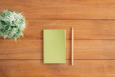 White Notes Beside a Pencil on Brown Wooden Surface  Free Stock Photo