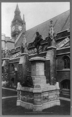 Statue of Oliver Cromwell outside Britain's Houses of Parliament.