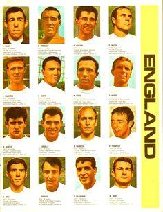 Plantel de Inglaterra para el mundial de 1966.