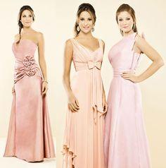 Vestidos para madrinhas na cor rosa