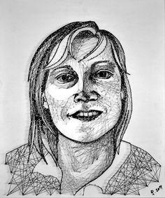Portrait in Nagel und Faden - J P.punkt