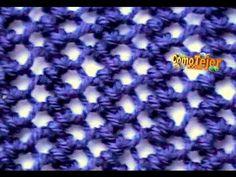Cómo Tejer MALLA para VERANO en COLORES - Reversible 2 Agujas (368) - YouTube