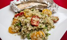 Quinoa Salad With Baked Fish