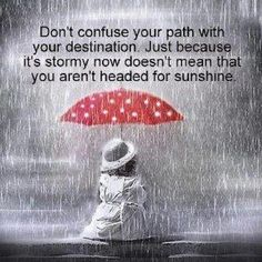 Don't confuse your path with your destination...