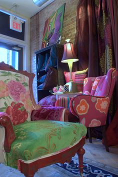 Custom Bedding and decorative pillows and furniture Designers Guild fabric, imported from England available at Jane Hall Design