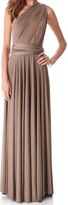 Classy brown long dress