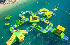 St Lucia will be more fun than ever when Reduit Beach in Rodney Bay Village becomes the home of the Eastern Caribbean's first open-water sports park. Malaga, Island Water Park, St Lucia Resorts, Attraction, Inflatable Water Park, Sport Park, Floating In Water, Jungles, Open Water