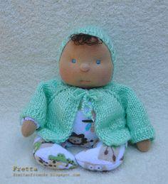9 / 22 cm Soft Sculptured Cloth Baby Doll by FrettasLovableDolls, $44.00
