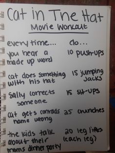 cat in the hat movie workout made by julia pharris