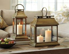 Williams-Sonoma Home lanterns - what a classic, sophisticated look!