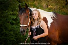 http://www.photosbypdemott.com  Emma and her horses senior portrait session (Dayton senior portrait photographer)