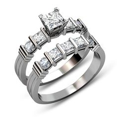 Learn more about this here.  Item Details:-  Retail Price: $6400.00  Our Price: $1495.99 Metal: 14KT white gold, 18KT white gold, Platinum Carat Weight: 1.90CT Total Weight  Quality: I-J / VS2-SI1  G-H / VS1-VS2    To buy, visit:- http://www.primestyle.com/190ct-princess-round-diamonds-bridal-p-59526.html