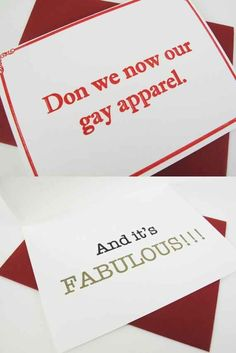 Don We Now Our Gay Apparel Funny Christmas Card (set of 4) | 19 Funny & Festive Etsy Christmas Cards