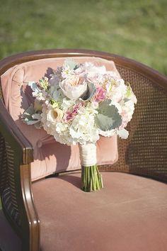 pretty pink pastel wedding bouquet  http://www.weddingchicks.com/2014/01/27/pastel-sheep-wedding-inspiration/