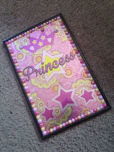 Bedazzled Princess Wall Decor by BedazzledBliss33 on Etsy