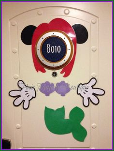 Minnie Mouse as Ariel Body Part Cruise Door Magnet