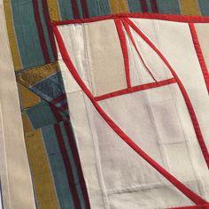 Debra Smith, pieced raw silk