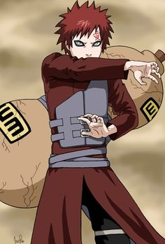 Gaara (also from Naruto) is a very relatable enemy because he wants to be accepted by his village, despite his issues with anger and his depression.