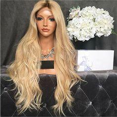 Stock 250% Density Ombre Blonde #613 Brazilian Hair Full Lace Human Hair Wigs   | eBay