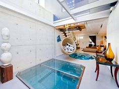 Small Indoor Pool on Living Room