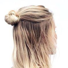 Le demi-chignon, la parfaite coiffure estivale !