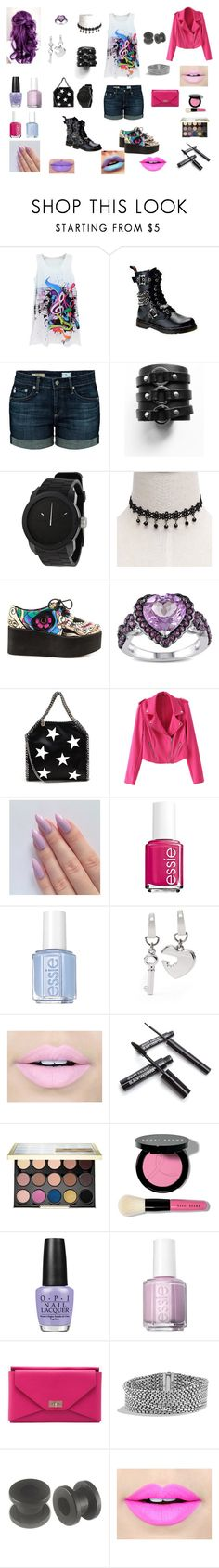 """""""Untitled #215"""" by knight-lover ❤ liked on Polyvore featuring AG Adriano Goldschmied, Diesel, Iron Fist, Miadora, STELLA McCARTNEY, Essie, FOSSIL, Fiebiger, Urban Decay and Bobbi Brown Cosmetics"""