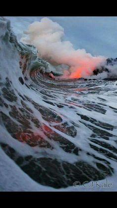 Lava and Ocean