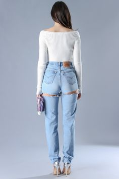 Slits Denim Jeans from Sosorella by Heather Sanders