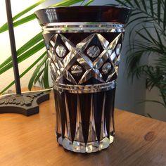 VAL ST Lambert Vase Doublé Prune ART Déco Circa 1935 | H 20cm
