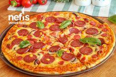 Evde Pizza Tarifi Nasıl Yapılır? (Videolu Garanti Lezzet) - Nefis Yemek Tarifleri Pizza Dough, Pepperoni, Food And Drink, Bread Pizza