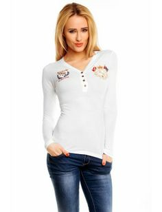 Red Bridge blusa bordados | white