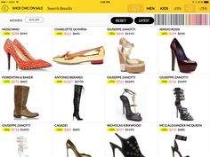 The www.coolonsale.com Shoe Chic App brings a curated collection of women's and mens shoes on #sale and only on #sale