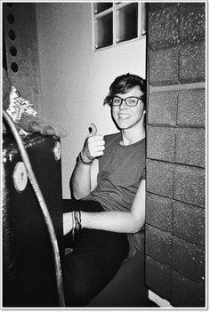 Ashton Irwin Fedora And Glasses