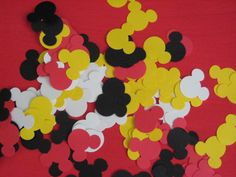 Mickey Mouse Confetti 100 pieces in a pack party by AdhuCreations, $2.50