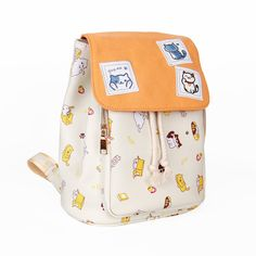 This item is shipped in 48 hours, included the weekends. Material: Leather Measurements x x - 31 cm x 13 cm x 25 cm Care: Hand Wash Origin: Made in China Free Ems expedited shipping Kawaii Bags, Kawaii Clothes, Visual Kei, Tama, Cute Backpacks, School Backpacks, Neko Atsume, Doja Cat, Yellow Cat