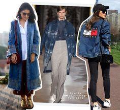 Street style: jeans é uma peça que nunca sai de moda e está sempre presente nos desfiles