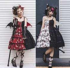 The Dead Princess Gothic Lolita Jumper Dress,Lolita Dresses, Tokyo Street Fashion, Japanese Street Fashion, Japan Fashion, Korean Fashion, Grunge Style, Soft Grunge, Grunge Outfits, Grunge Dress, Gothic Lolita Dress