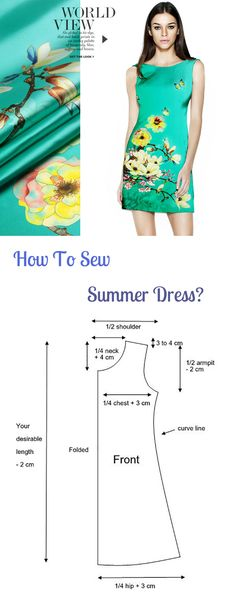 Learn How To Sew Summer Dress #fashion #dress #sewing