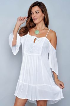 VESTIDO TIRANTE VC-ON09 - H.H.G - Venta al por Mayor Simple Dresses, Cute Dresses, Short Dresses, Boho Summer Outfits, Hippie Outfits, Bohemian Hippie Clothes, Beachwear For Women, Western Outfits, Casual Wear