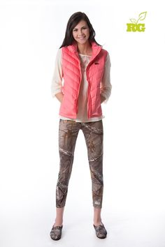 #New Realtree Girl Camo Legging and Pink Vest - 2014 Fall Line #Realtreegirl