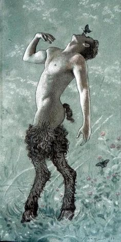 The faun is a rustic forest god or goddess (genii) of Roman mythology often associated with enchanted woods and the Greek god Pan and his satyrs.