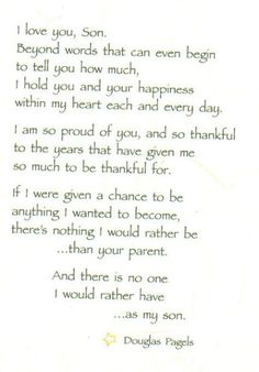 poems for a son with pictures - Yahoo Search Results