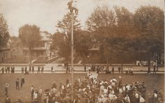 During the 1920's many fads arose including flagpole sitting, pictured above. Other fads of the era were kissing contests, crosswords puzzles, and marathon dancing.