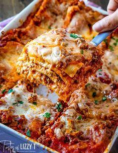 Recipes With Lasagna Noodles, Homemade Lasagna Recipes, Lasagna Recipe With Vegetables And Meat, Pasta Recipes, Recipe Pasta, Lasagna Recipe Taste, Easy Lasagna Recipe With Ricotta, Instant Pot Lasagna Recipe, Recipes