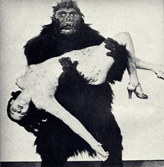 The gorilla and the girl.