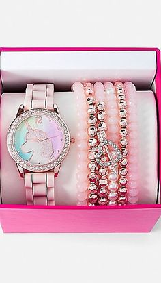Justice is your one-stop-shop for on-trend styles in tween girls clothing & accessories. Shop our Unicorn Watch & Bracelet Set. Unicorn Room Decor, Unicorn Rooms, Justice Accessories, Fashion Accessories, Girls Jewelry, Cute Jewelry, Unicorn Fashion, Unicorn Jewelry, Accesorios Casual