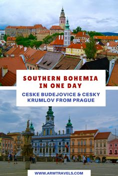 The Czech region of Bohemia has many charming towns that deserve a visit. If you'd like to explore the Czech Republic beyond Prague, you can combine a visit to Ceske Budejovice and Cesky Krumlov in a single day!