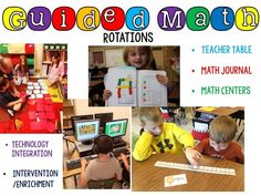 All About Guided Math-  A breakdown of the components of guided math with pictures and explanations