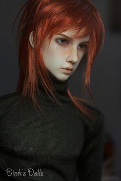 Redheaded Dollshe Bernard by SDink (Dink's Dolls) ~ see his smattering of freckles?