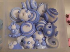 polymer clay beads by miss rose danaé, via Flickr -- look a lot like lampwork beads